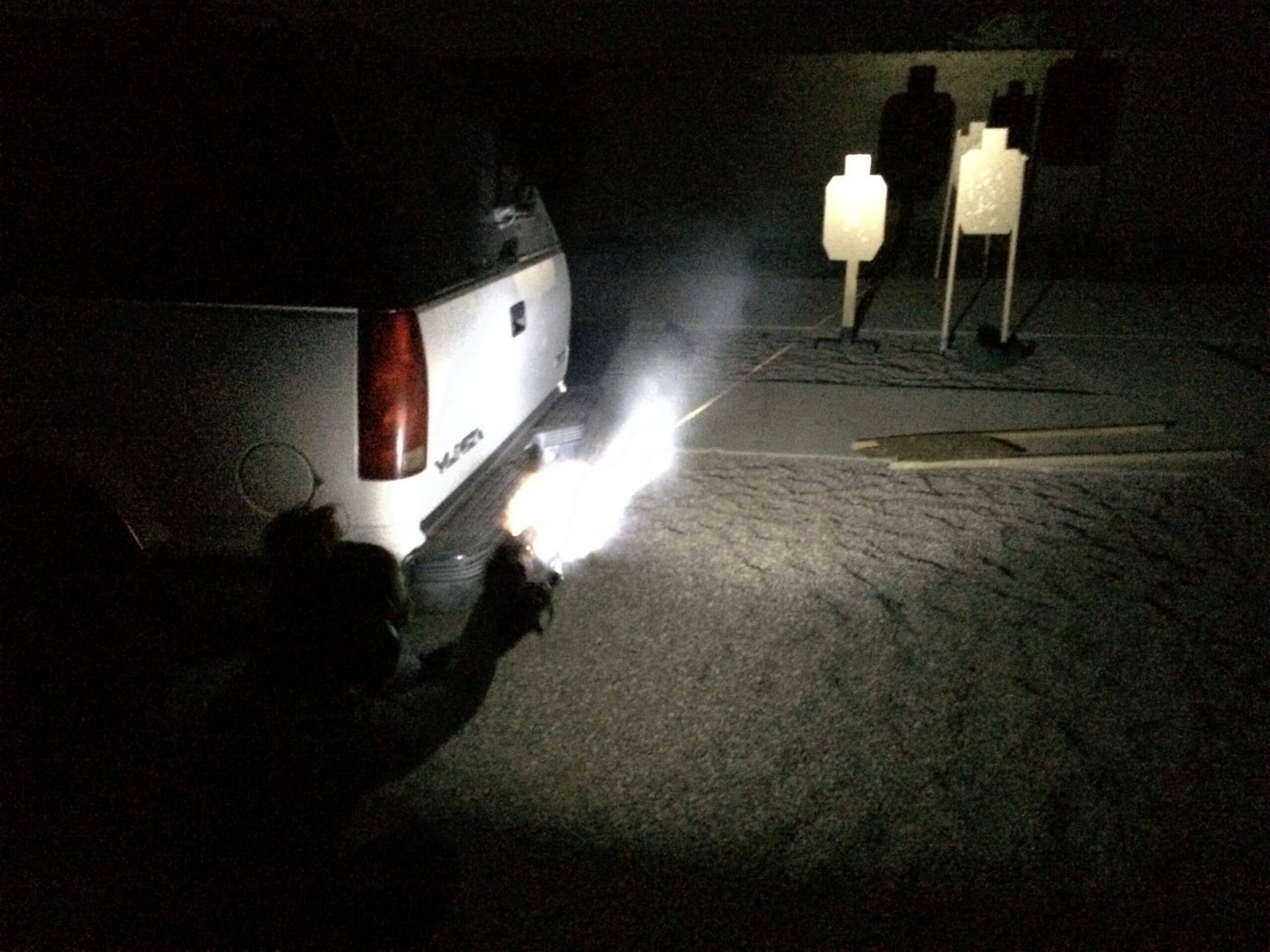 Night Pistol Fighting